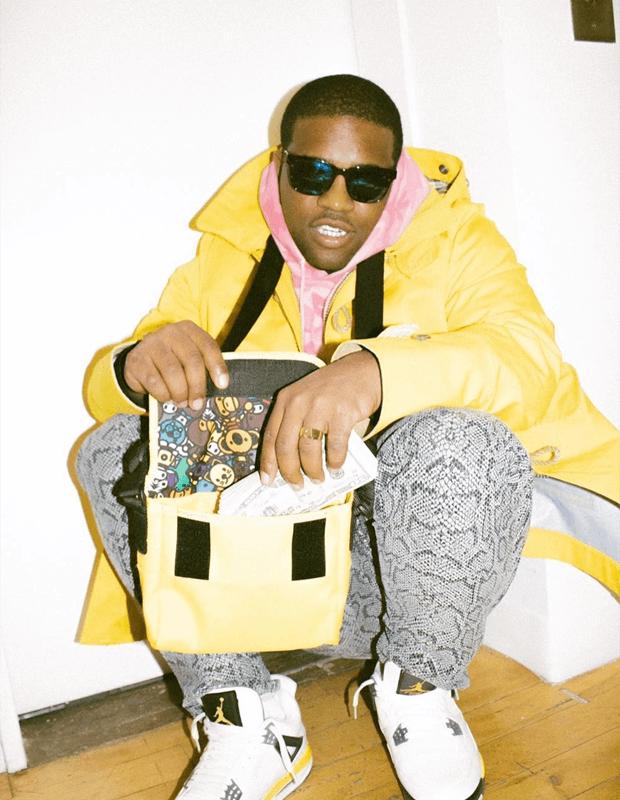 "A$AP Ferg in the Air Jordan 4 ""Tour Yellow"""