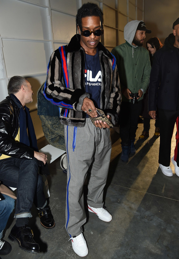 A$AP Rocky in the Gosha Rubchinskiy x FILA OG Tennis