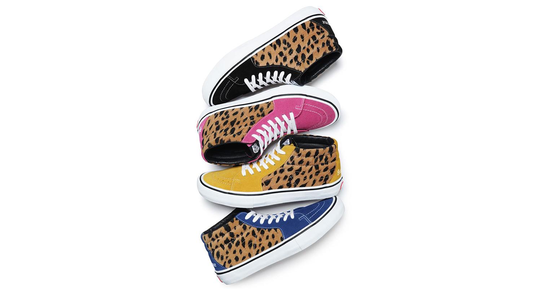 Supreme x Vans Leopard Collection