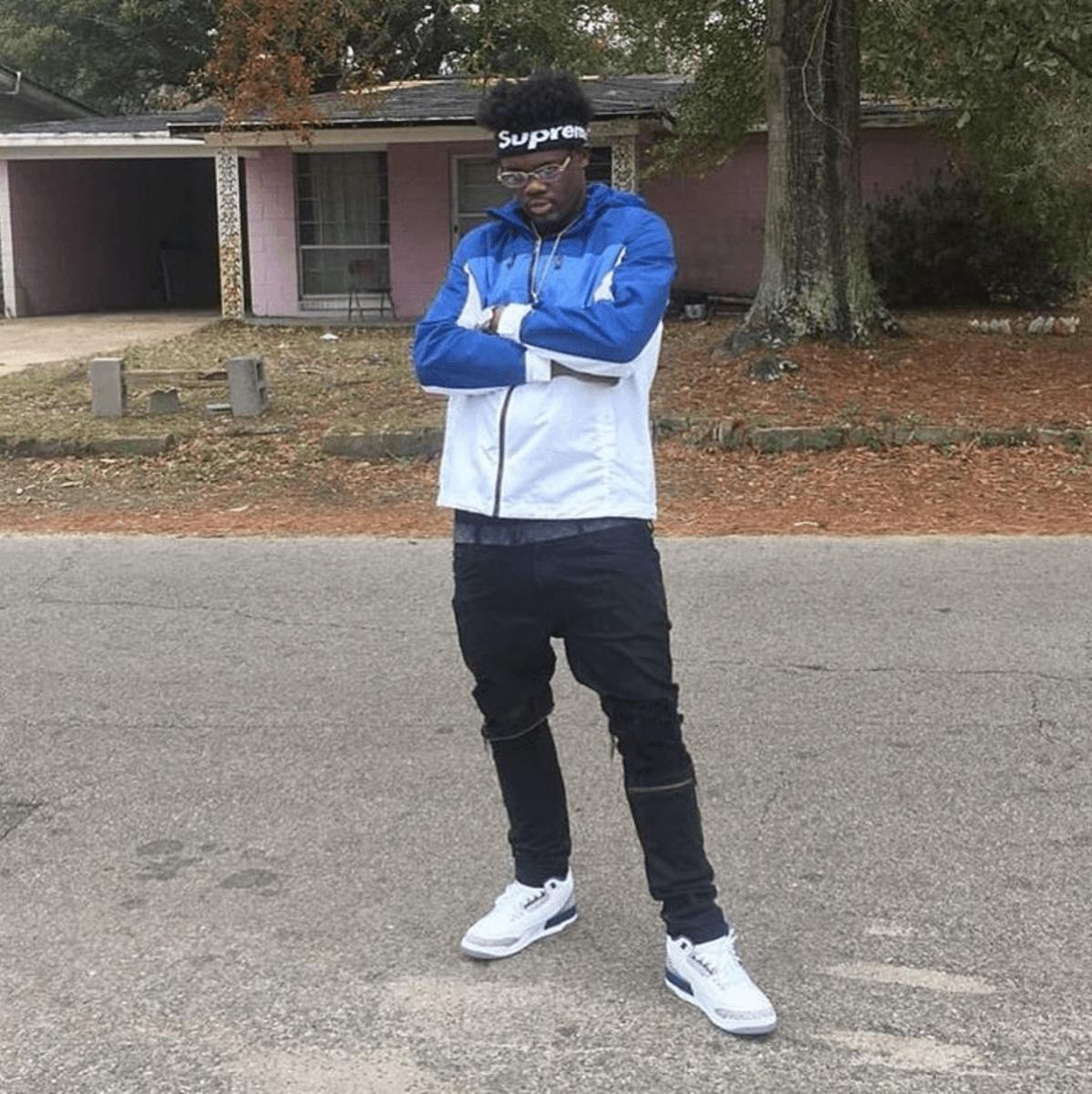 "Ugly God in the Air Jordan 3 ""True Blue"""