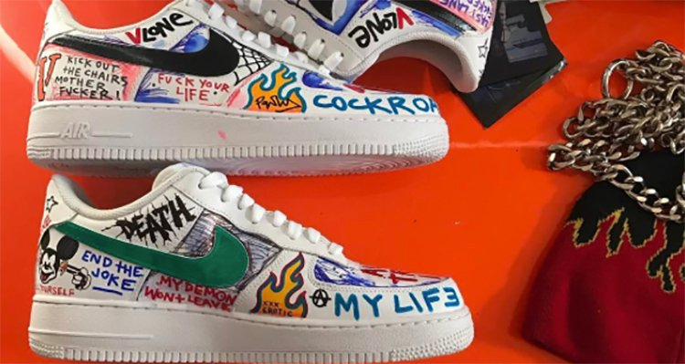 Get a Better Look at the VLONE x Nike Air Force 1 Custom the A$AP Mob Has Been Wearing | Nice Kicks