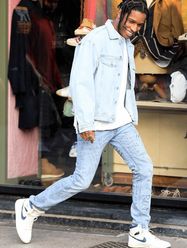 "A$AP Rocky in the OG Air Jordan 1 ""Metallic Navy"""