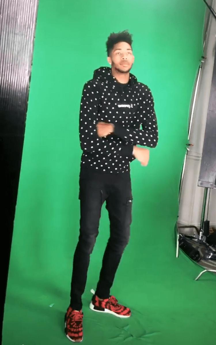Brandon Ingram in the Nice Kicks x adidas NMD_R1 PK