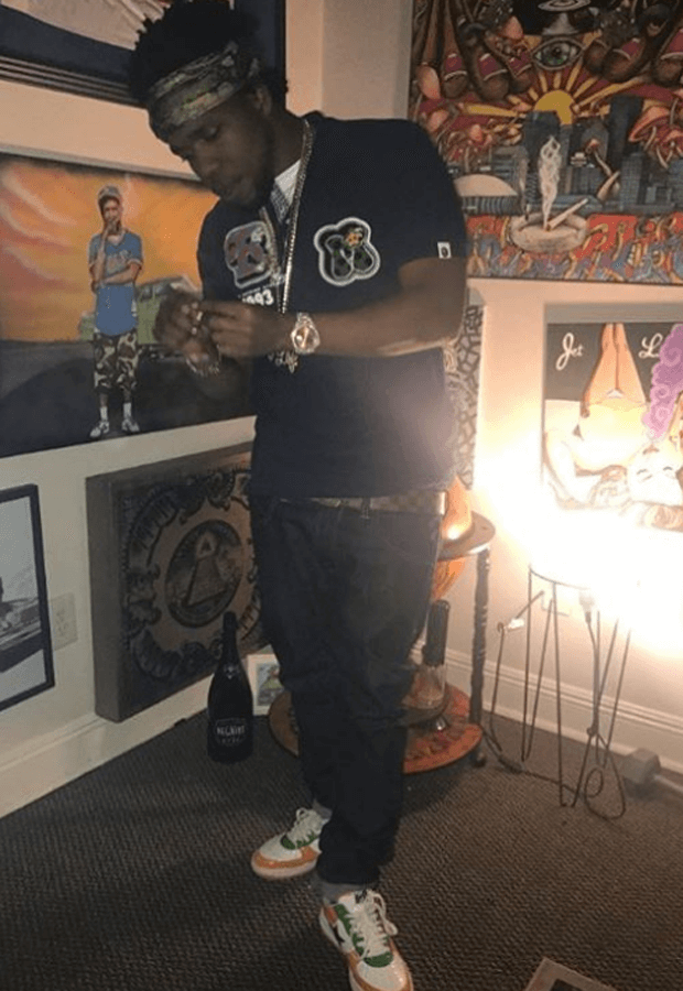 Curren$y in A Bathing Ape Bapestas