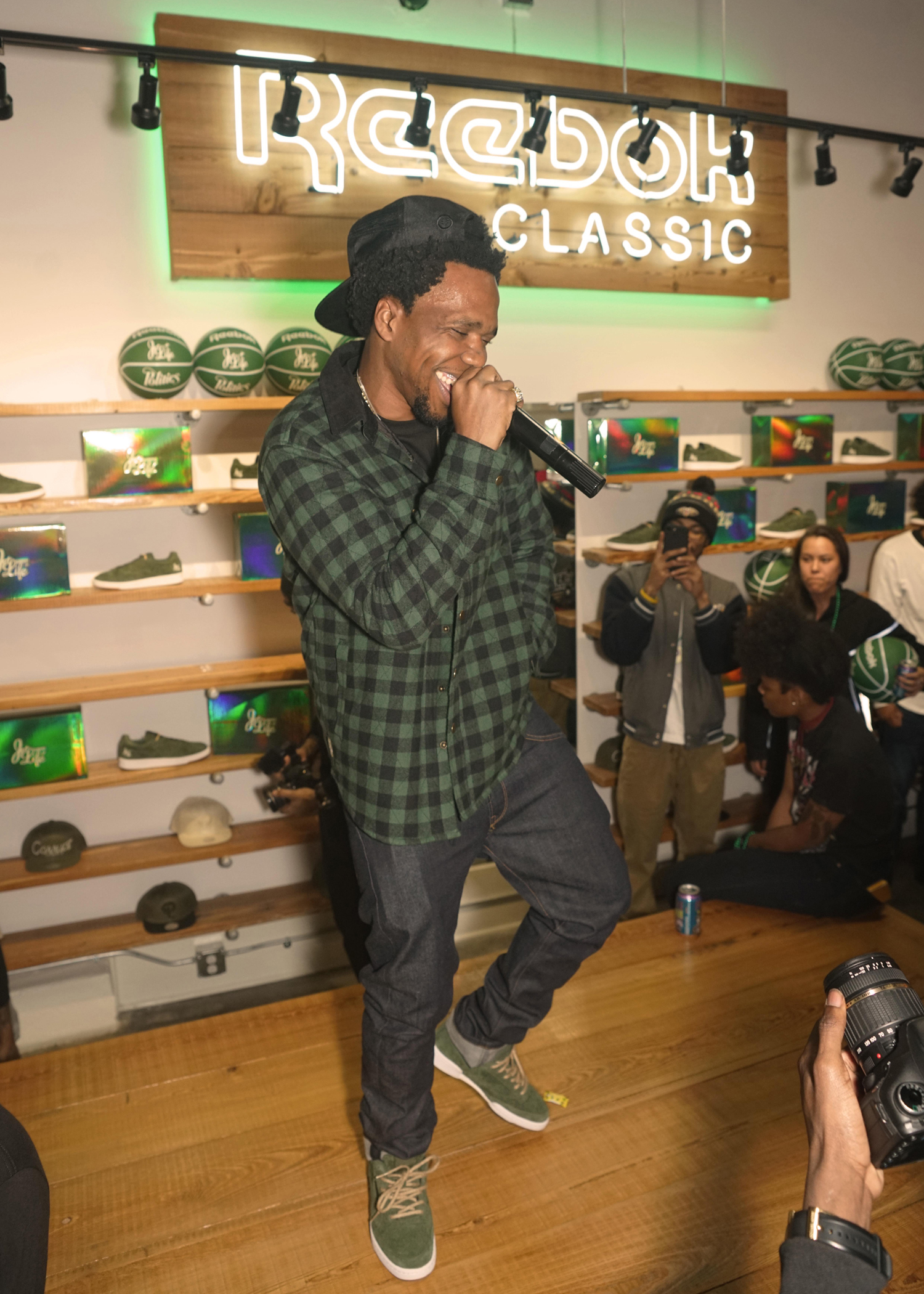 Curren$y in the Jet Life x Reebok Club C 85