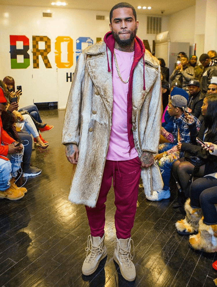 Dave East in Yeezy Season Boots