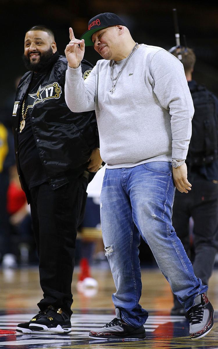 """DJ Khaled in the Air Jordan 4 """"Royalty"""" & Fat Joe in the Eminem x Air Jordan 2 """"The Way I Am"""""""