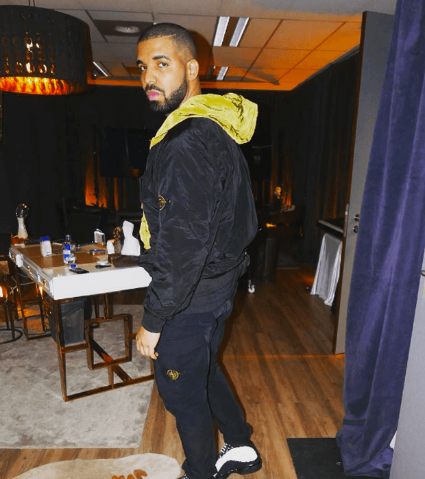 "Drake in the Air Jordan 13 ""Black Cat"""