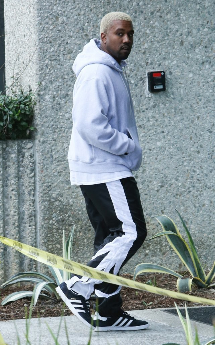 Kanye West in the adidas Gazelle