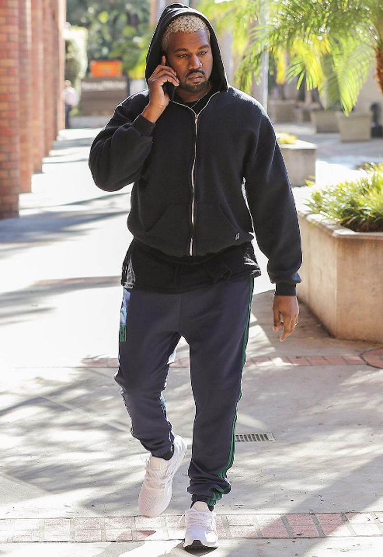 Kanye West in the adidas Ultra Boost White/White-Black