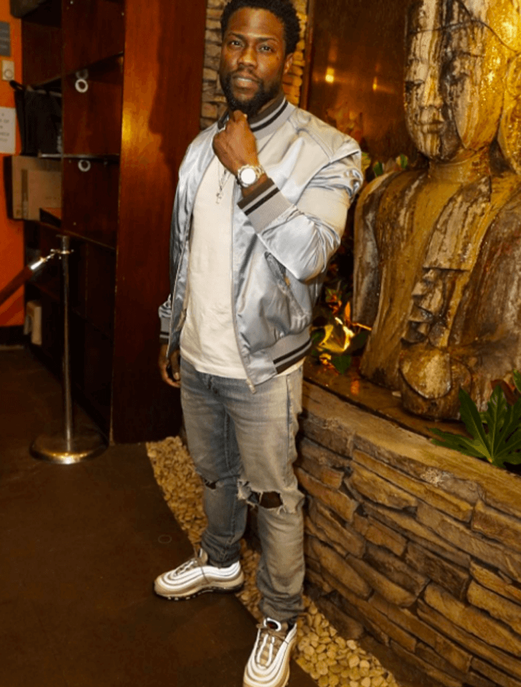 """Kevin Hart in the Nike Air Max 97 """"Silver Bullet"""""""