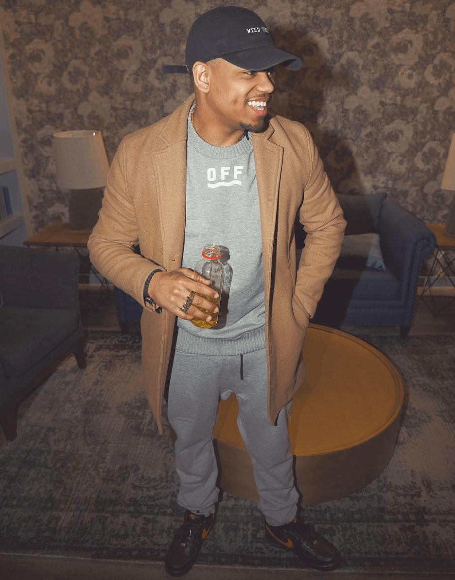 Mack Wilds in the VLONE x Nike Air Force 1 Low