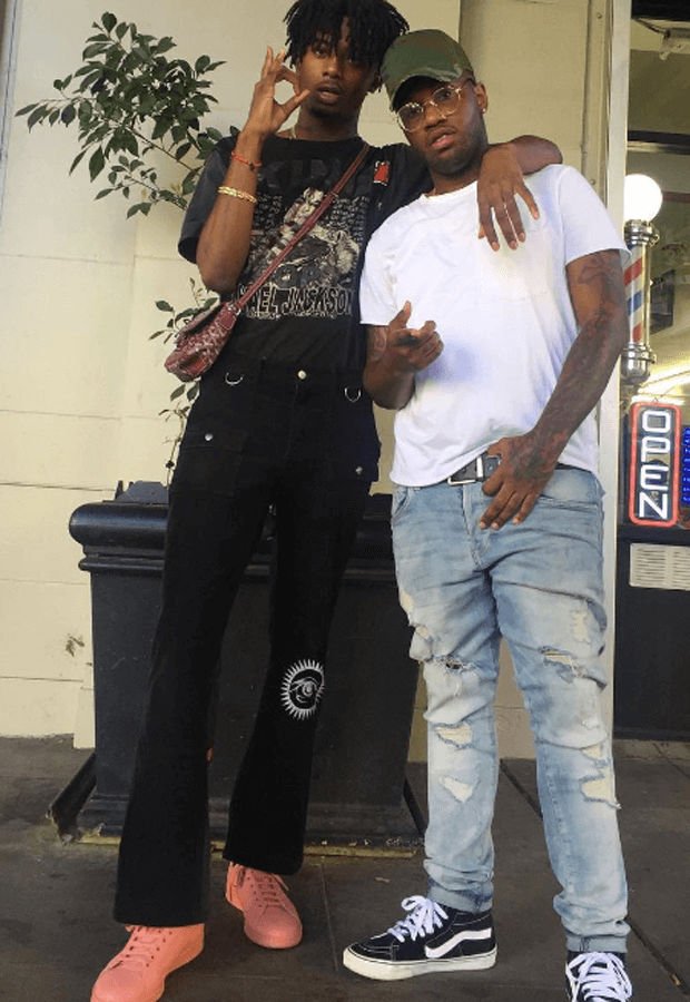 Playboi Carti in the Raf Simons x adidas Stan Smith