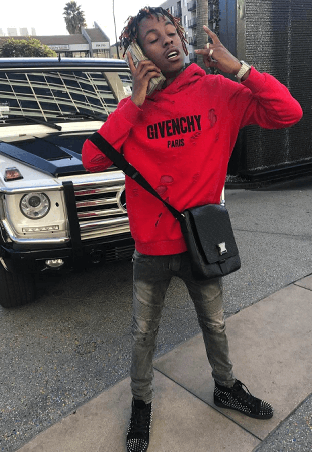 Rich the Kid in Christian Louboutin sneakers