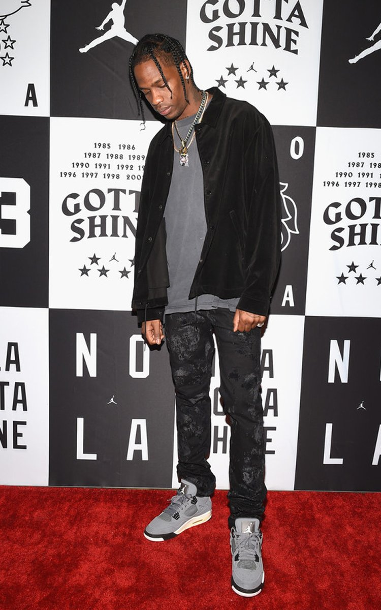 "Travis Scott in the Air Jordan 4 ""Cool Grey"""