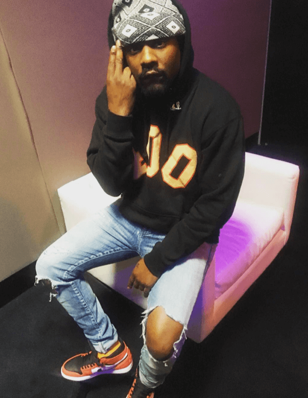 "Wale in the Air Jordan 1 Rare Air ""Max Orange"""