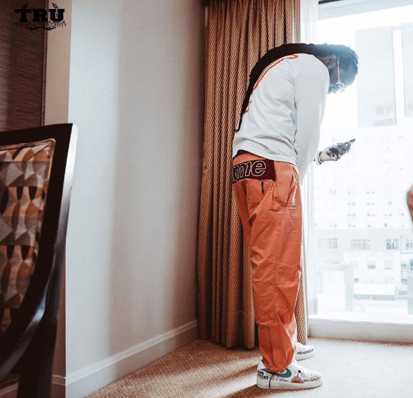 2 Chainz in the VLONE x Nike Air Force 1 Low Custom