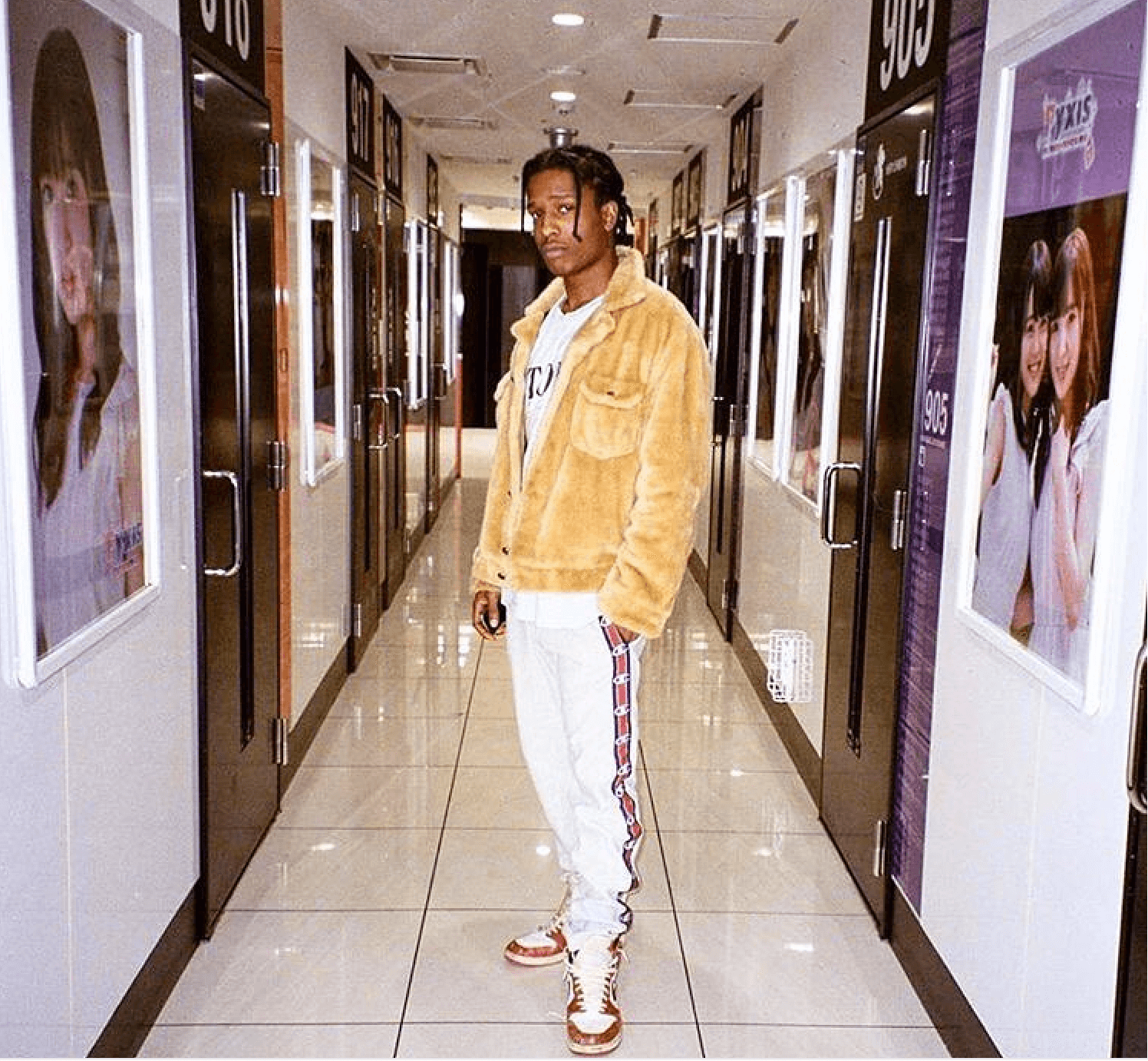 """A$AP Rocky in OG """"Chicago"""" Air Jordan 1s"""