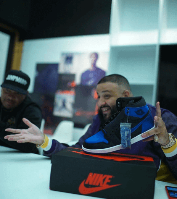 """DJ Khaled in Air Jordan 1 Retro High OG SE """"Satin"""""""
