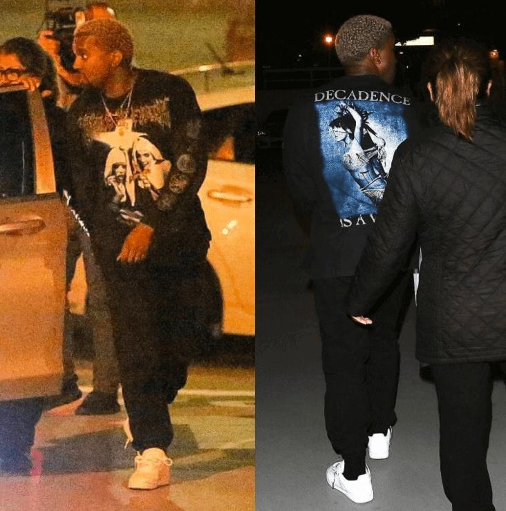 Kanye West in Adidas Yeezy Calabasas Sneakers