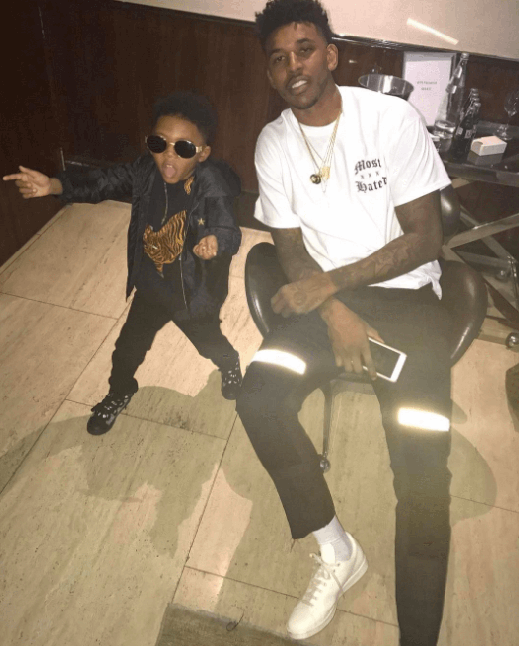 Nick Young in the Raf Simons x adidas Stan Smith