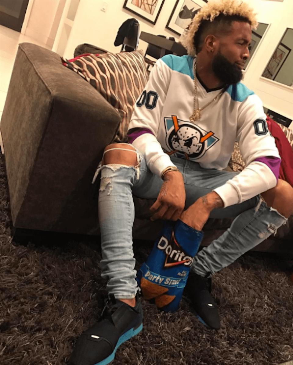 Odell Beckham Jr. in Balenciaga sneakers