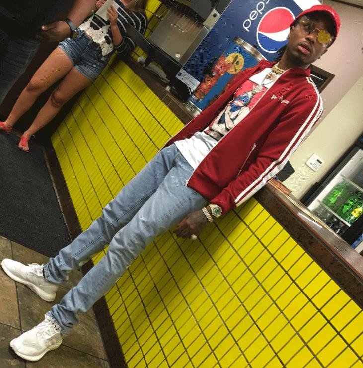 "Quavo in Adidas Y3 Pure Boost ""Triple White"""