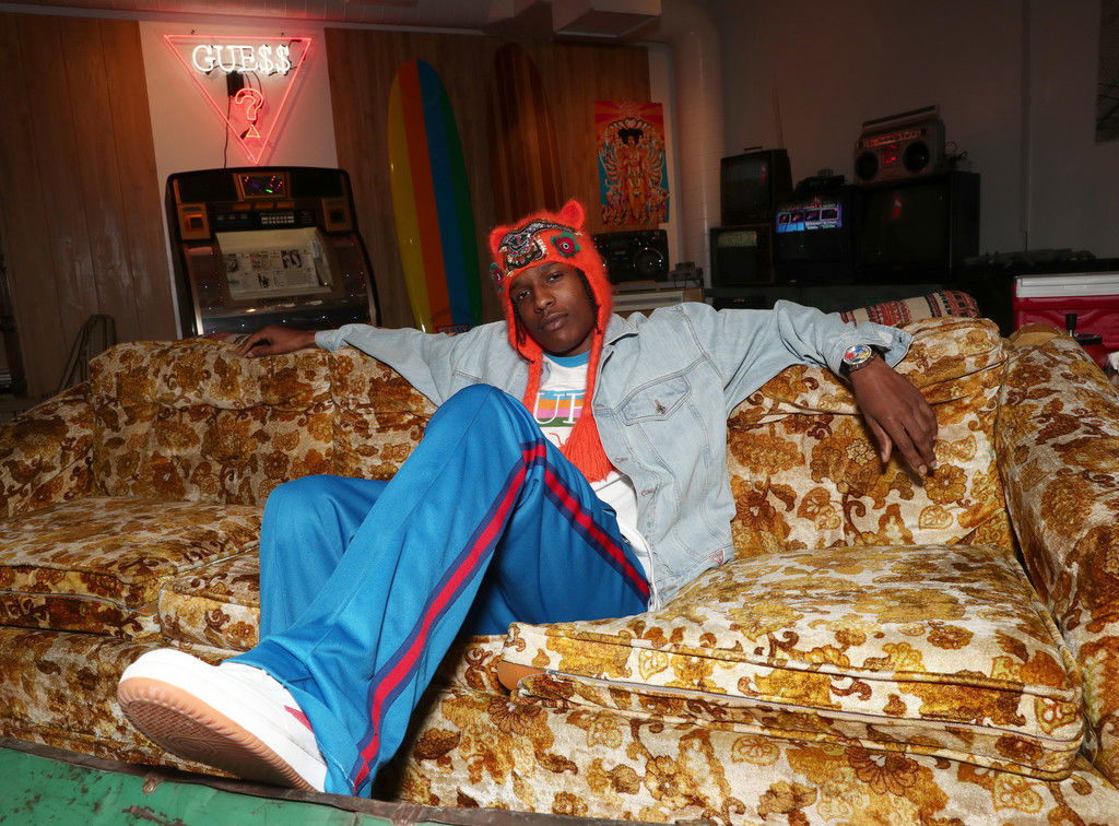 A$AP Rocky in the Gosha Rubchinskiy X Fila T-1 Mid