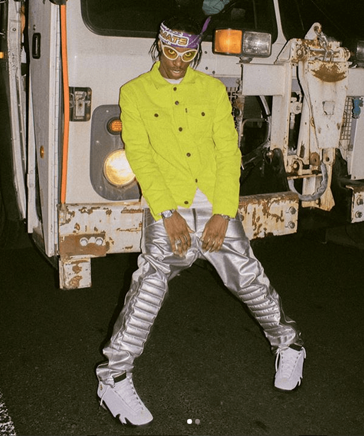 "Bloody Osiris in the Air Jordan 14 ""Chartreuse"""