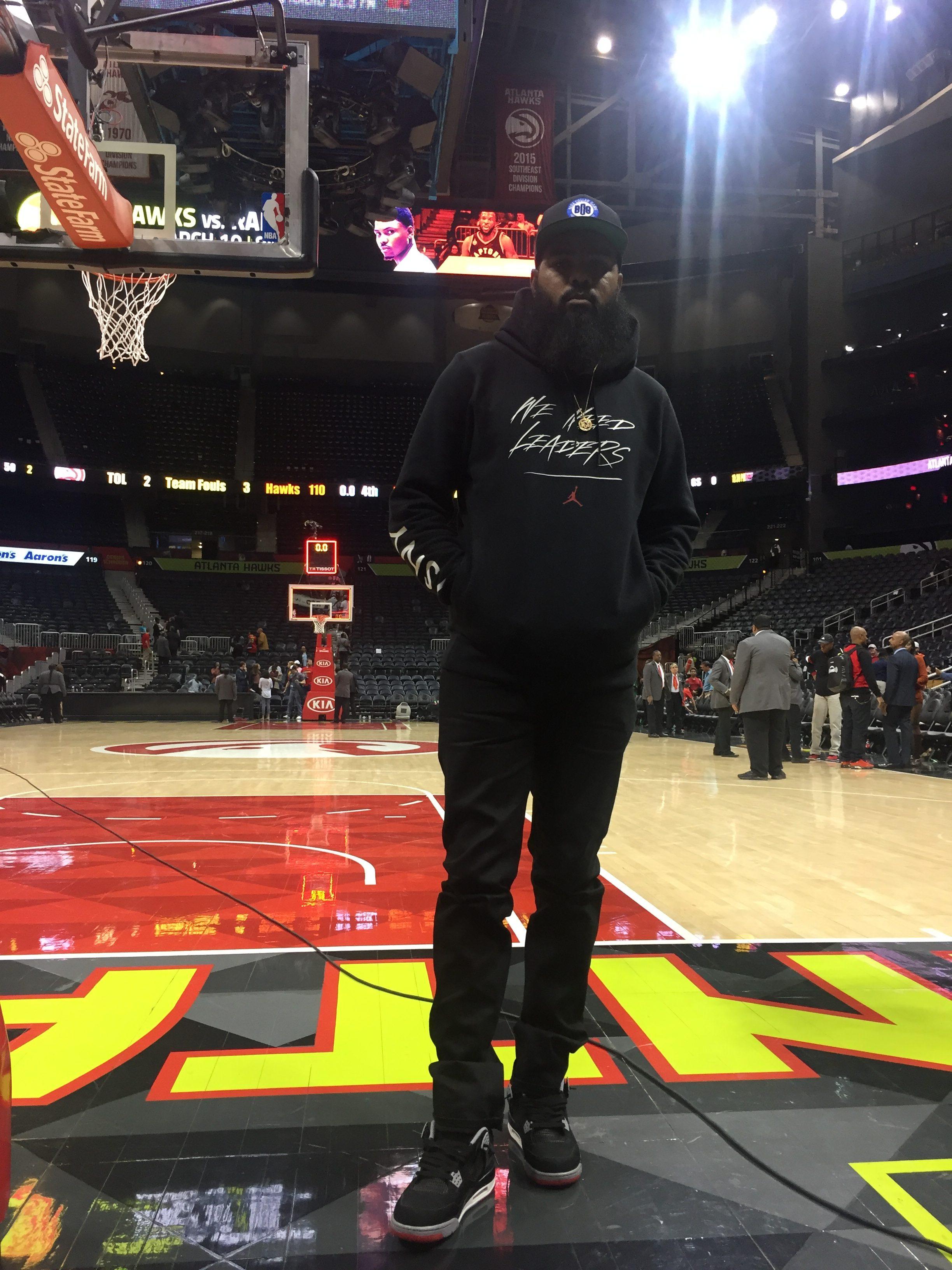 Stalley in the Air Jordan 4 Black/Red