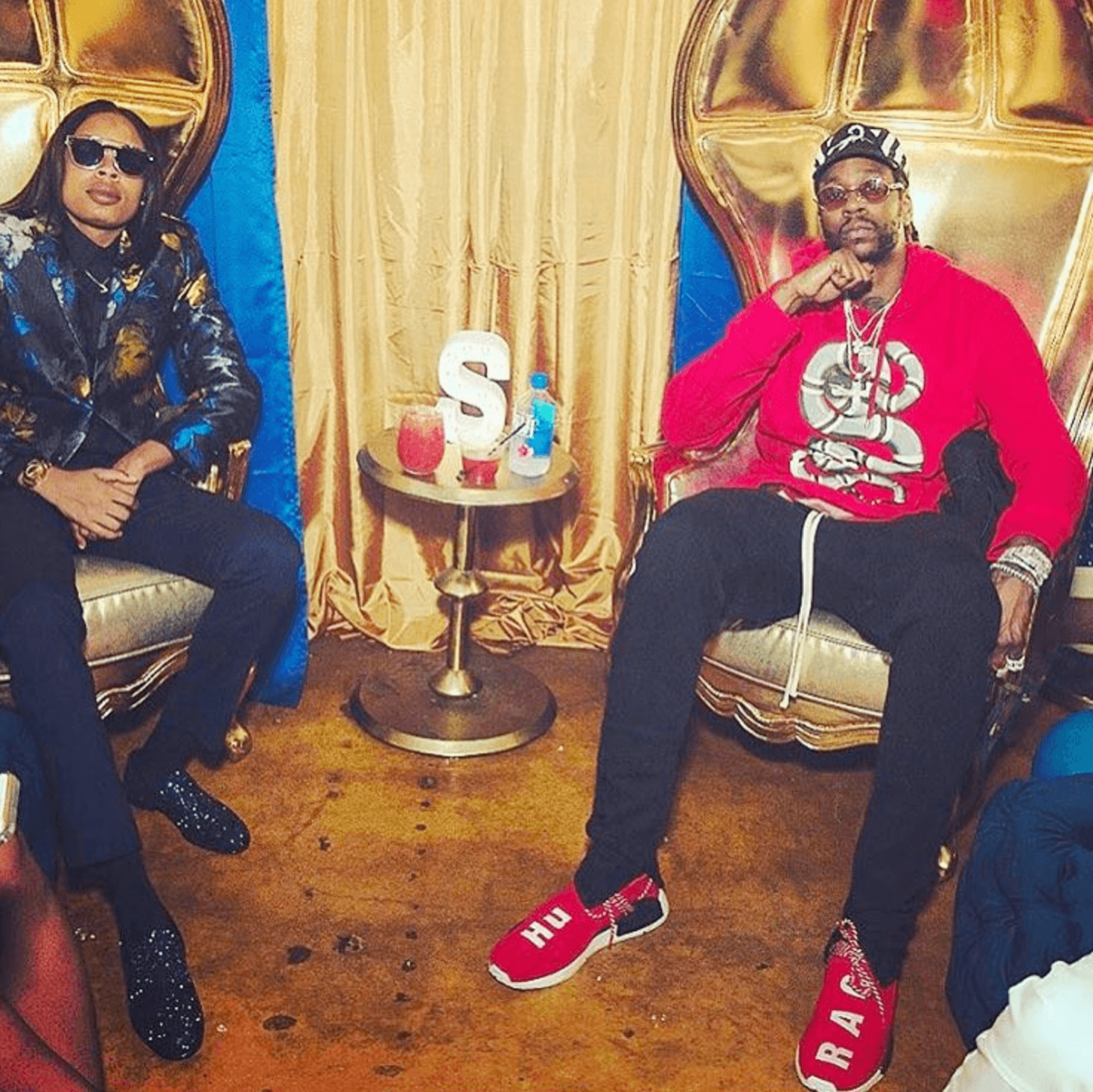 2 Chainz in the Adidas Originals PW NMD Human Race