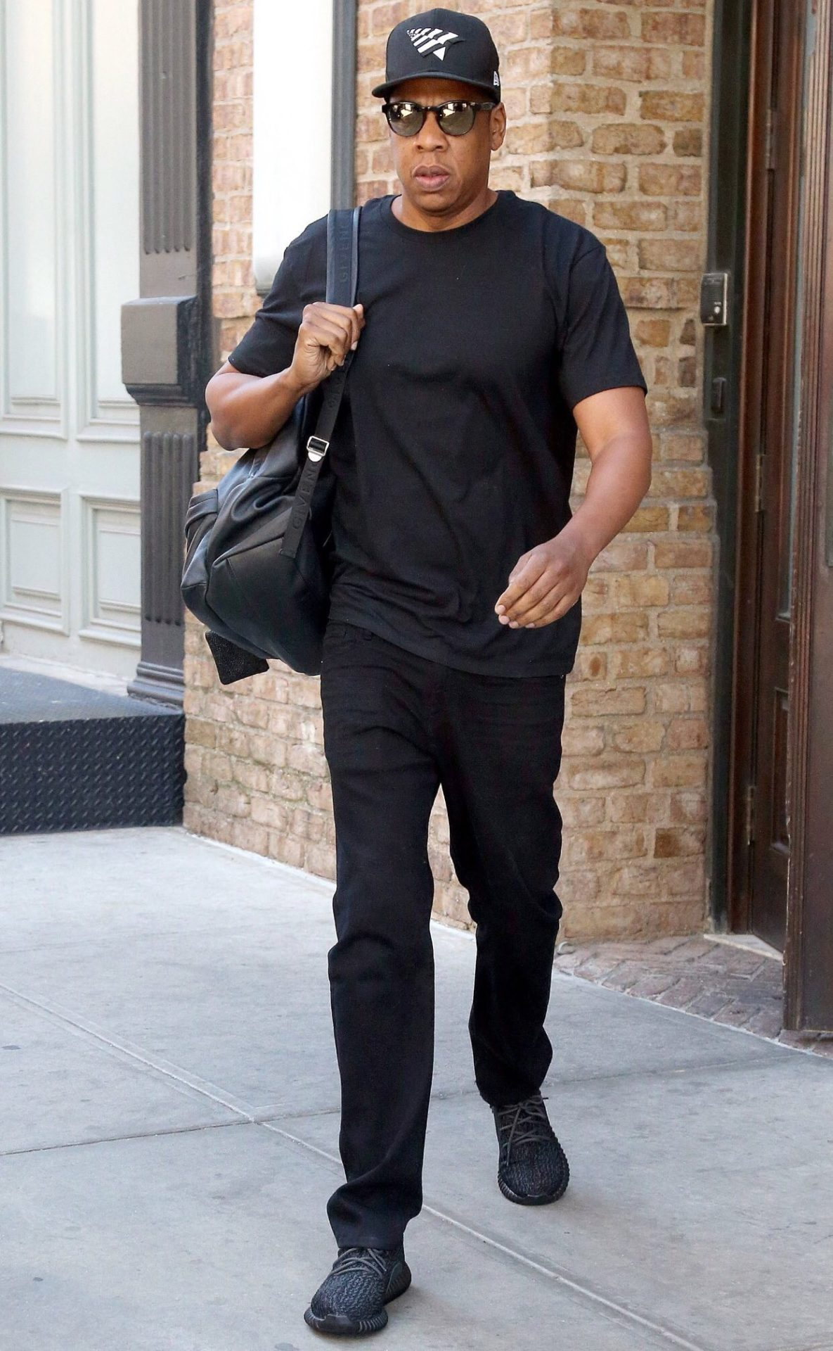 "Jay-Z in the Adidas Yeezy Boost 350 ""Pirate Black"""