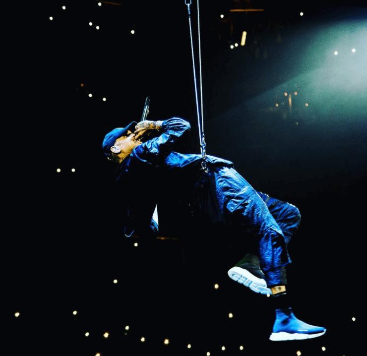 Chris Brown in the Balenciaga Speed Knit Runner