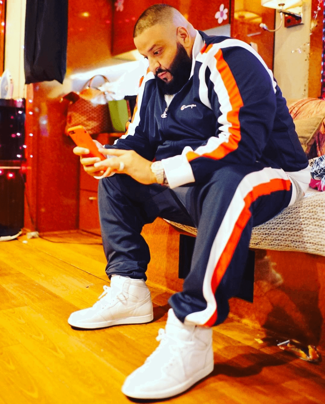 DJ Khaled in the Air Jordan 1 High