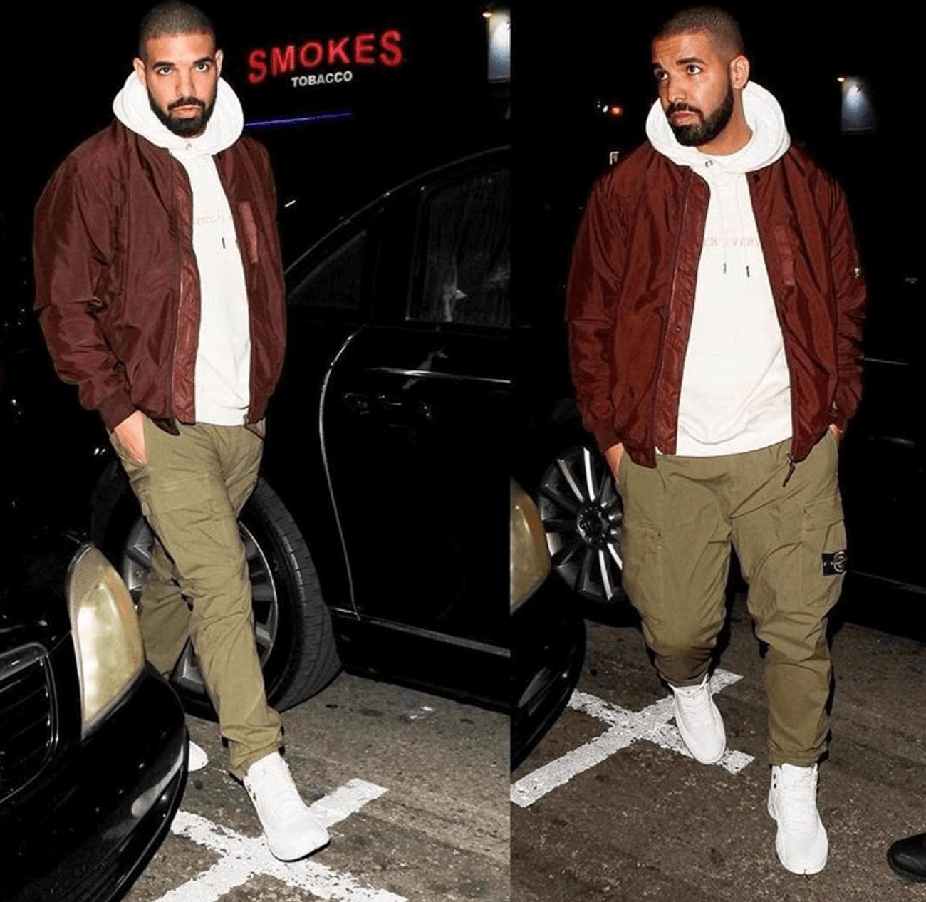 """Drake in the Air Jordan 12 Retro """"OVO"""""""