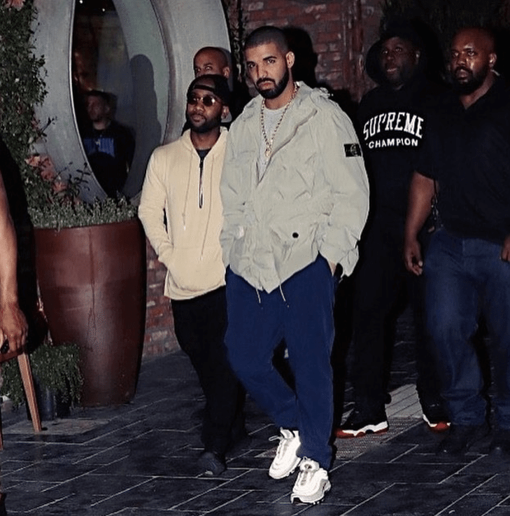 "Drake in the Nike Air Max 87 "" Silver Bullet"""