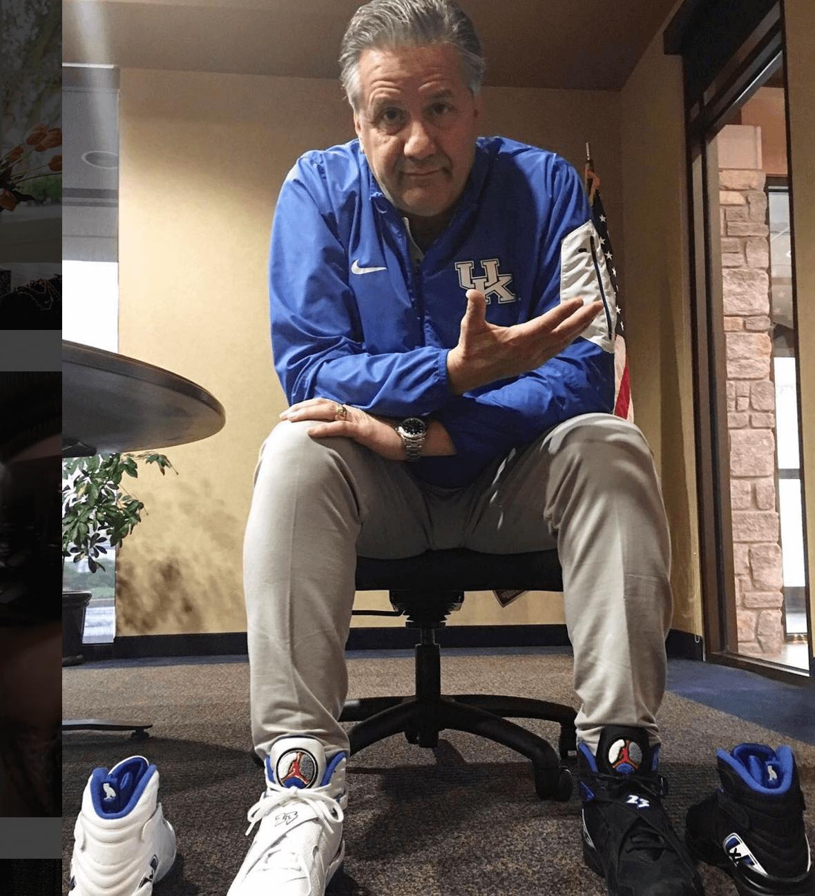 "John Calipari in the Air Jordan 8 Retro ""OVO"""