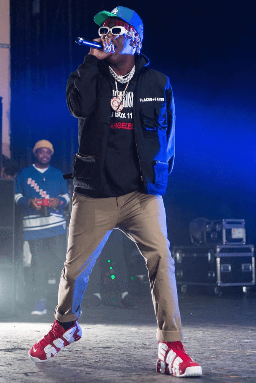 Lil Yachty gets nostalgic with his Uptempo and Polo Sport combination.