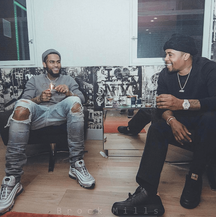 "Dave East in the Air Max 97 "" Silver Bullet"" & Nas in the Air Force 1 LV8"
