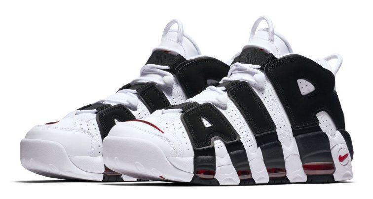 Nike Air More Uptempo White/Black-Red