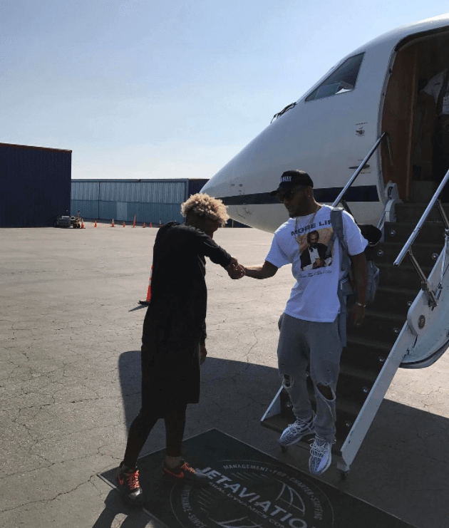 Odell Beckham in the Nikelab x Vlone Air Force 1 Low