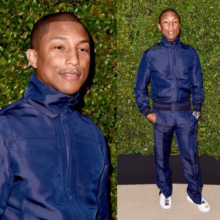 Pharrell Williams in the PW x Adidas Originals NMD Human Race