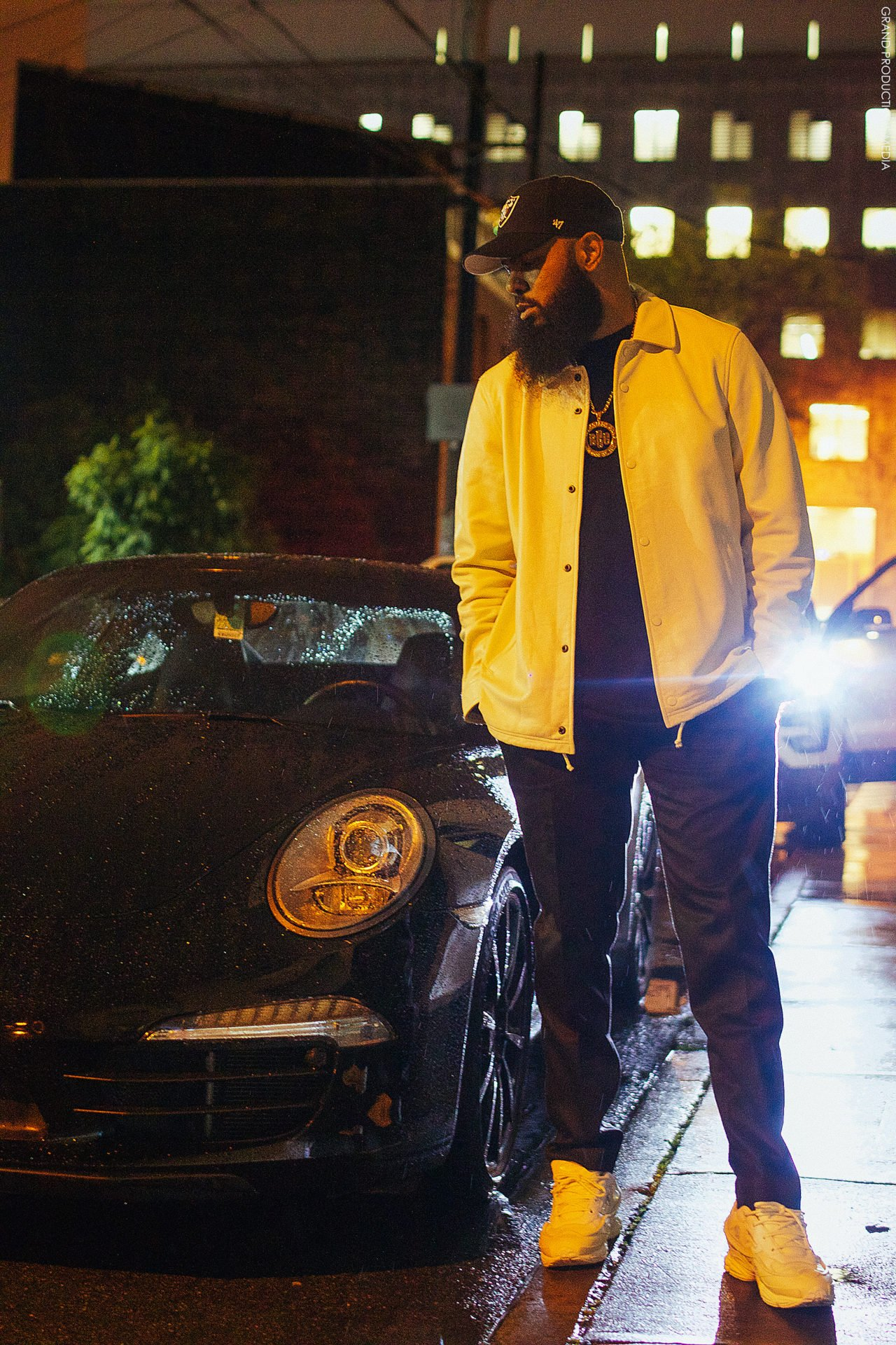 Stalley in the Adidas Raf Simons Ozweego Bunny Sneakers