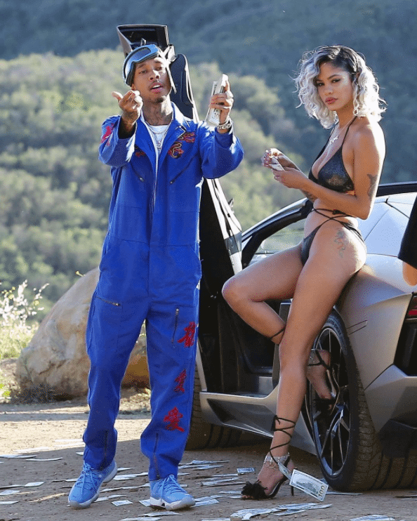 """Tyga in the Air Jordan 11 Retro """"Pantone"""""""