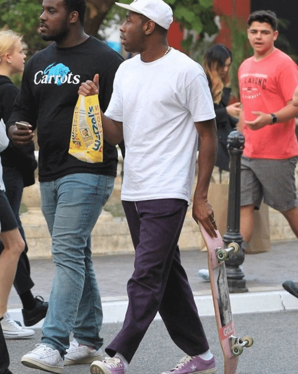 Tyler the Creator in the Converse One Star Pro Sneakers