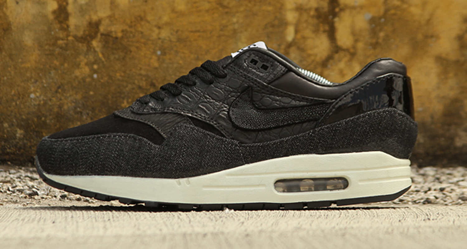 nike air max 1 (l) black gold leopard exclamatory