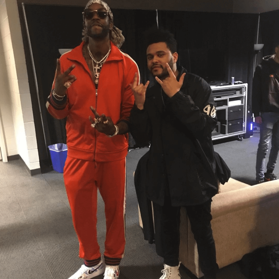 "2 Chainz in the Nike Air Force 1 Low ""Vlone"" & The Weekend in the XO x Puma Sneakers"