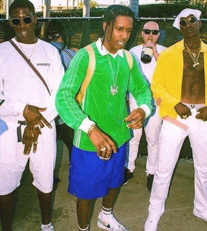 "ASAP Rocky in the Nike Air Force 1 Low ""Vlone"" & Skepta in the Nike Air Force 1 Low"