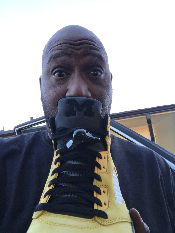 """Bun B in the Air Jordan 5 Retro PE """"Fab 5"""""""