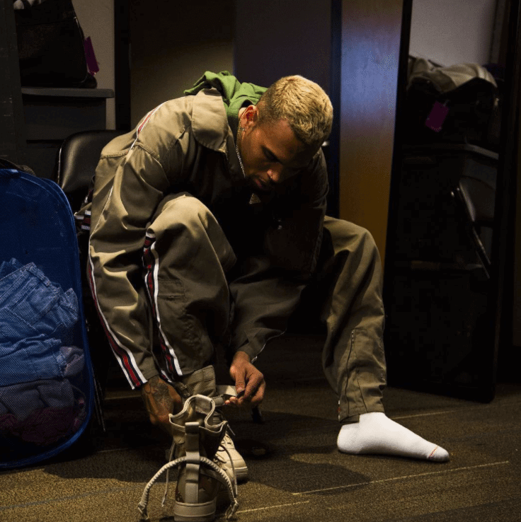 Chris Brown in the Nike Special Field Air Force 1